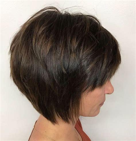 short layered bob  bangs hairstyles