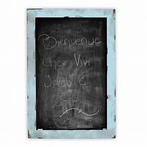 Tableau Craie Cuisine : tableau de type ardoise craie bois teint et blanc ~ Teatrodelosmanantiales.com Idées de Décoration