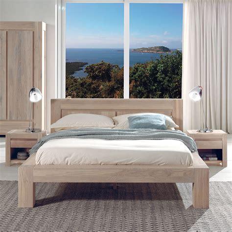chambre chene blanchi chambre en chêne massif blanchi