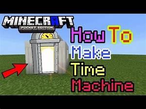 HOW TO MAKE TIME MACHINE MCPE Minecraft PE YouTube