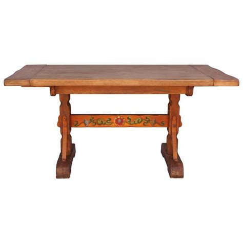 wood dining tables for 1930s painted monterey dining table at 1stdibs 1930