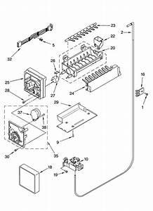 Icemaker Parts  Optional Parts Diagram  U0026 Parts List For