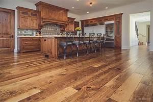 Custom Hand-Scraped Hickory Floor in Cupertino Wide