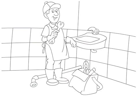 Free Coloring Pages Of Occupations Worksheet