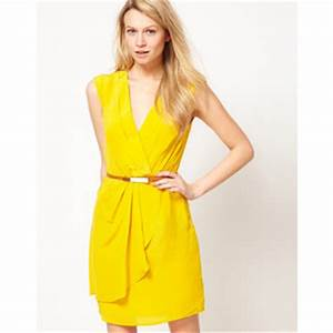 1001 fashion trends Neon Yellow Cocktail Dresses