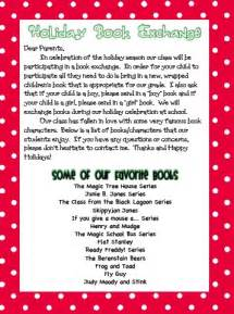 holiday book exchange letter school pinterest