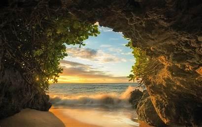 Cave Sunset Beach Nature Landscape Island Sand