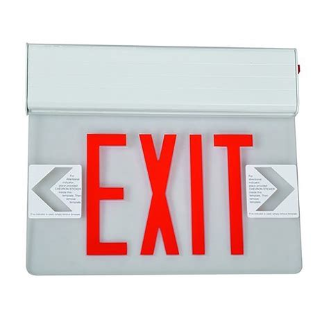 led exit surface mount one sided legend edge lit led exit signs