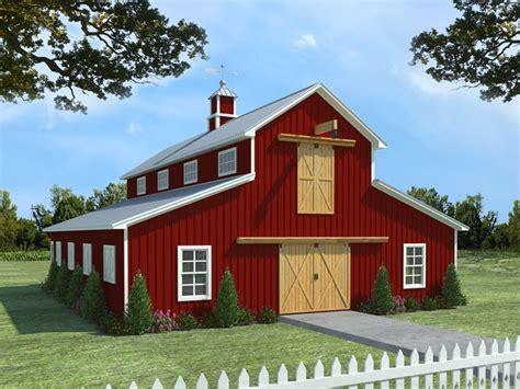 Apartment Barn Plans by Barn Plans Barn Plan With Living Quarters 001b