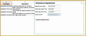 4 time slot sign up sheet template fabtemplatez With help desk script template