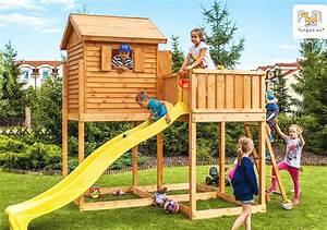 Haus Mit Rutsche : spielturm myside mit 2 90 m rutsche leiter haus mit holzdach von fungoo spielwaren online shop ~ Orissabook.com Haus und Dekorationen