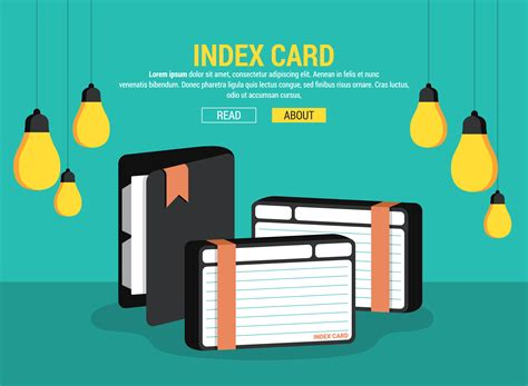 index card vector illustration   vector art