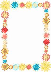 free digital scrapbooking flower frames – colorful flower ...
