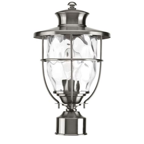 Backyard Lighting Home Depot by Progress Lighting Beacon Collection Outdoor Stainless