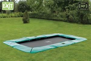 Trampolin Für Den Garten : kinder trampolin exit bodentrampolin supreme 244x427 gr n ~ Michelbontemps.com Haus und Dekorationen