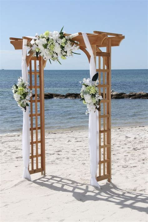 great ideas  beach wedding arches deer pearl flowers