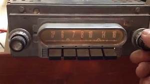 1960 Ford Galaxie Car Radio Made By Stromberg