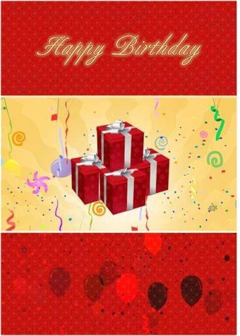 birthday card template microsoft word templates