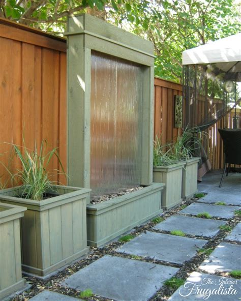 how to make a water wall feature craftionary
