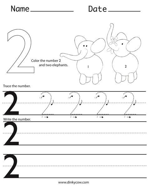 Preschool Number 2 Worksheet Worksheets For All  Download And Share Worksheets  Free On