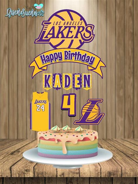 lakers cake topper lakers birthday lakers party lakers