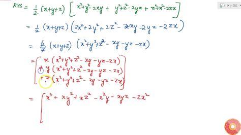 `x^3+y^3+z^3-3x Y Z=1/2(x+y+z)[(x-y)^2+(y-z