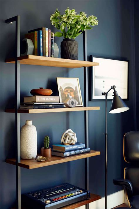 Living Room Bookshelves Modern by Moody Mid Century Home Office Shop The Look Amazing