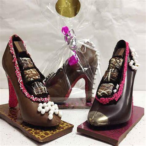 designer chocolate high heel shoe
