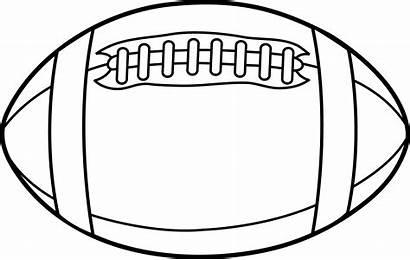 Football Outline Clip Field Clipart Template Ball