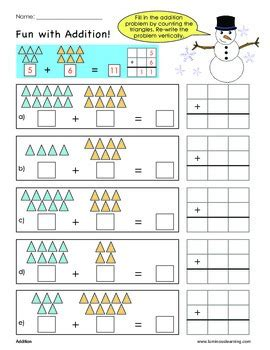 A practical single digit picture addition exercise maths worksheet for grade 1 (first grade) students and kids with animals theme. Grade 1 Addition Sample Worksheet: Making Math Visual by ...