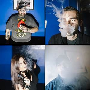 Clockwise from top left: VapeNY employee Ricky Garcia, a ...