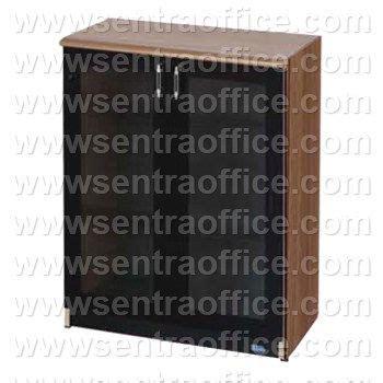 jual lemari arsip medium pintu kaca 3 ruang uno lavender series type ust 8474 murah sentra office