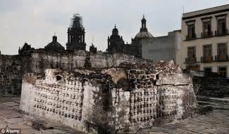 Skulls Aztec Ruins Mexico City