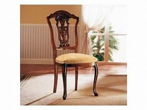 Sedia in legno con seduta imbottita, per sala da pranzo IDFdesign