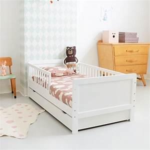 Lit Enfant Barrires 2 Ans Bois Blanc 70x140 Cm Petite