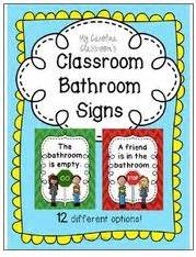 classroom bathroom signs stop go 12 options