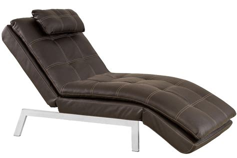 chaise a brown leather chaise lounger futon valencia chaise serta