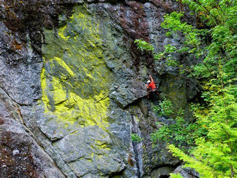 Rock Climbing Toxic Lichen British Columbia