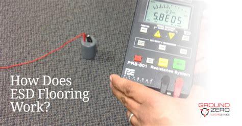 how does esd flooring work ground zero electrostatics
