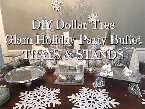 diy dollar tree glam  years buffet trays stands youtube