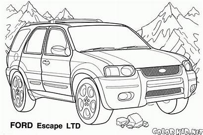 Coloring Jeeps Pages Jeep Vehicles Views