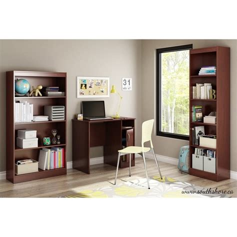 south shore furniture axess small desk royal cherry south shore axess small desk in royal cherry 7246075