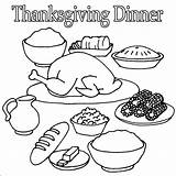 Thanksgiving Coloring Dinner Pages Food Turkey Drawing Printable Clipart Sheet Colouring Sheets Drawings Toddlers Print Advertisement sketch template