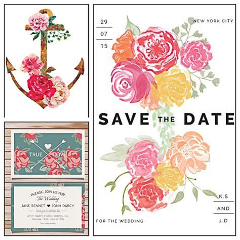 roses  anchor wedding invitation vector