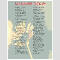 The Summer Checklist  There's Still Time To Check These