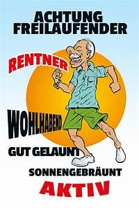 Rentner Bilder Comic : blechschild achtung freilaufender rentner lustig comic metallschild ~ Watch28wear.com Haus und Dekorationen