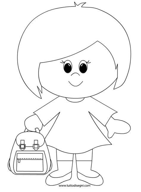 disegni per bambini asilo bambina zaino scuola2 immagini disegni da colorare