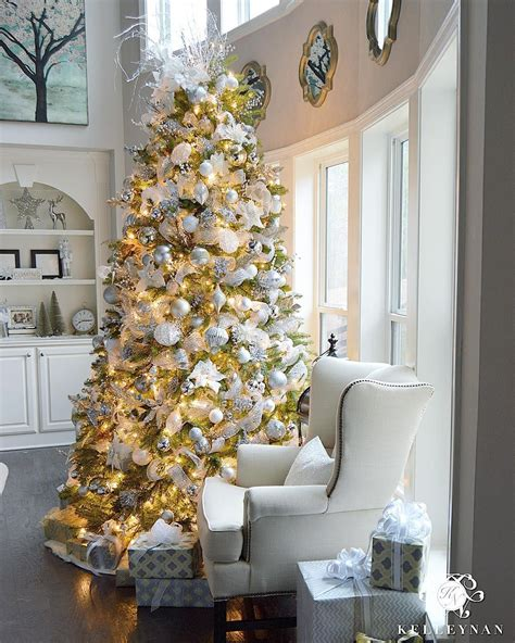white tree with gold decorations 9 foot white gold and silver tree filled with
