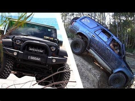 siege 4x4 toyota hilux vs jeep wrangler 4x4 offroad battle