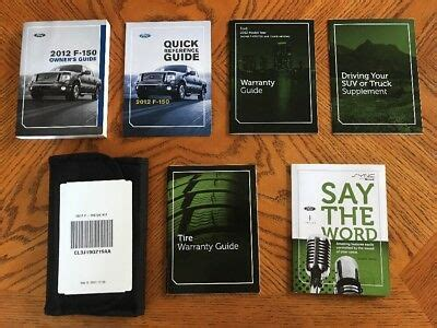 ford  truck owner owners operator manual set xl